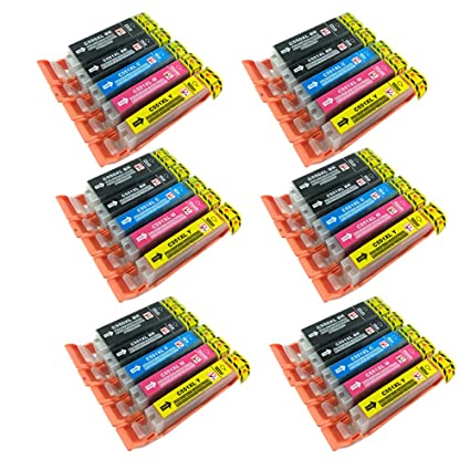 PerfectPrint - 30 PerfectPrint cartuchos de tinta compatibles Reemplace PGI550 CLI551 para Canon IP7250 MG5450 MG5550 MG6350 MG6450 MG7150 MX925 MX725 ...