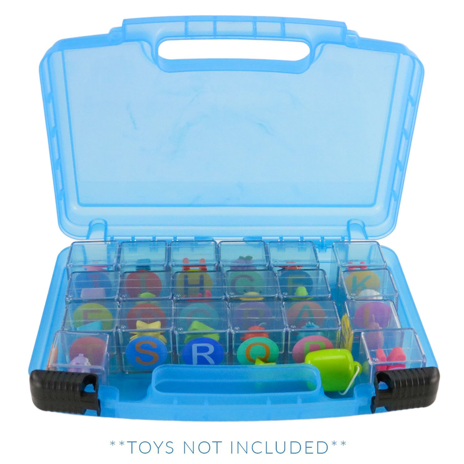 Life Made Better Storage Organizer Box Flip Flop Blocks Toys Accessories, Blue