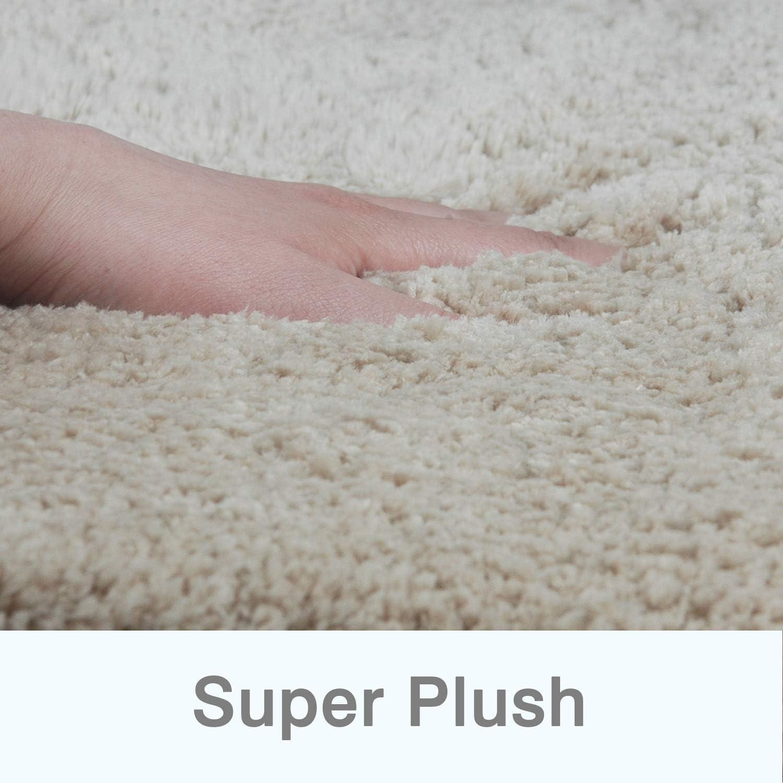 FCSDETAIL Tappeti da Bagno a Pelo Lungo Antiscivolo 50X80 cm Doccia e Bagno Tappetino Lavabile in Lavatrice con Microfibre Morbide Assorbenti per Vasca
