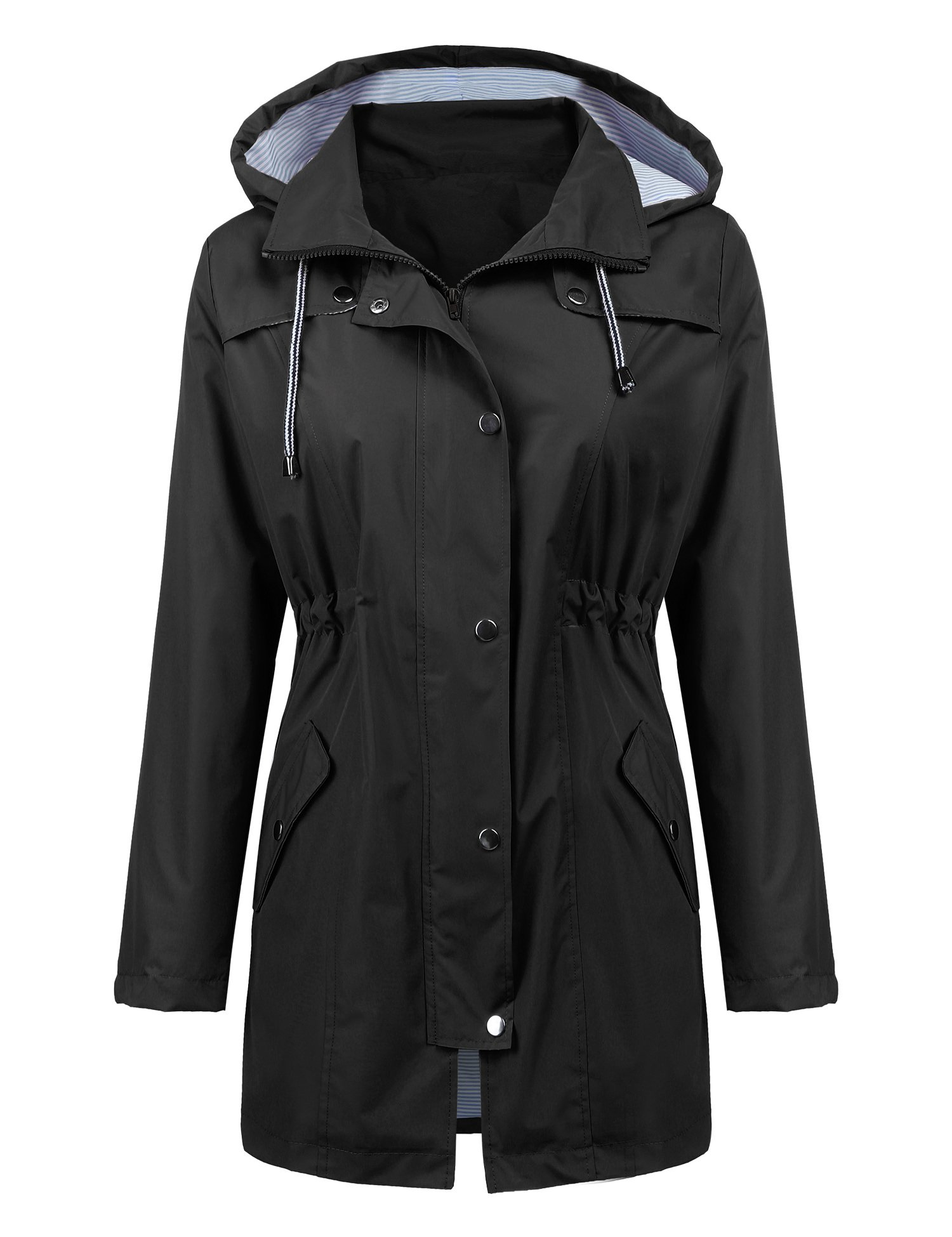 71b62f8d2492c Raincoat Women Waterproof Long Hooded Trench Coats Lined Windbreaker Travel  Jacket product image