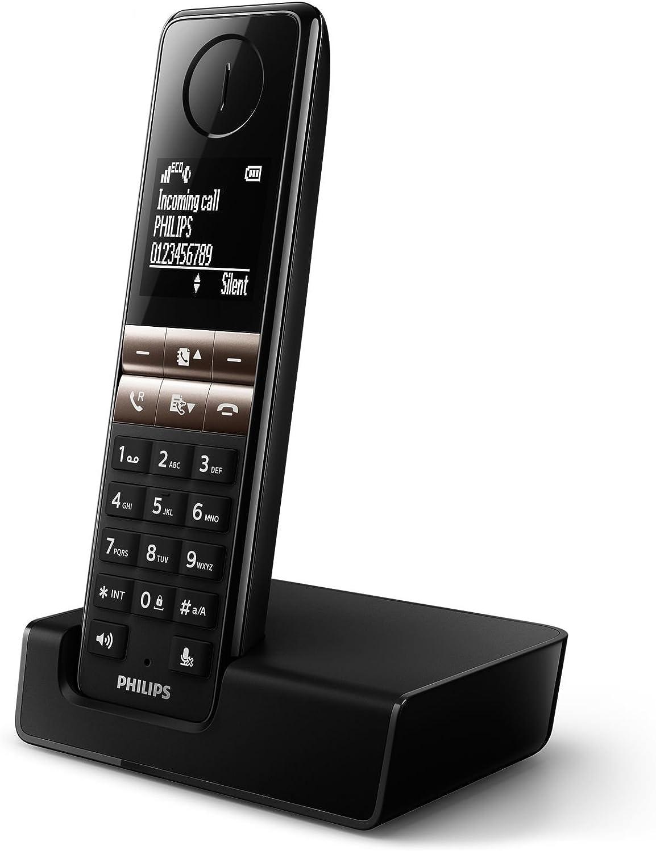 Teléfono Inalámbrico PHILIPS D4601B/53 Color Negro, DECT, Manos Libres: Amazon.es: Electrónica