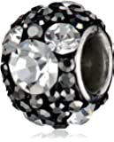 Disney Stainless Steel Mickey Crystal Birthstone Bead Charm