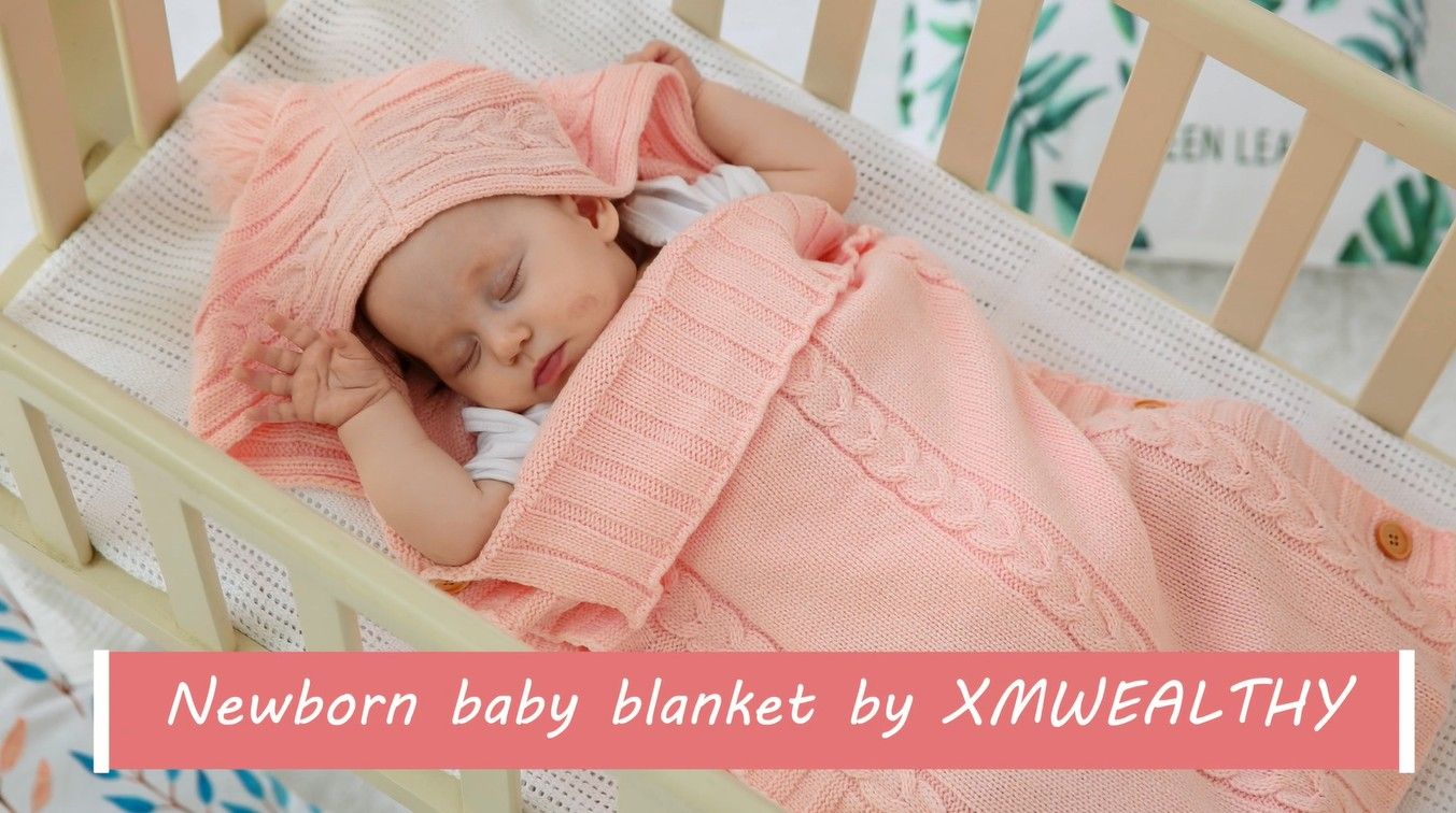 XMWEALTHY Newborn Baby Wrap Swaddle Blanket Knit Sleeping Bag Sleep Sack  Stroller Wrap for Baby(Dark gray) (0-6 Month) - Buy Online in UAE. 3316948a7