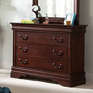 "Liberty Furniture Industries Carriage Court 3-Drawer Dresser, 40"" x 18"" x 33"", Mahogany Stain"