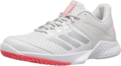 new style 1d713 42c7b adidas Women s Adizero Club 2 Tennis Shoe White Matte Silver Grey 11 ...