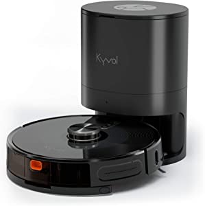 Kyvol Cybovac S31 Robot Vacuum and Mop, Automatic Dirt Disposal, Lidar Navigation, 3000Pa Suction Robotic Vacuum Cleaner with Mapping, 240 mins Runtime, Works with Alexa, Ideal for Pet Hair, Carpets