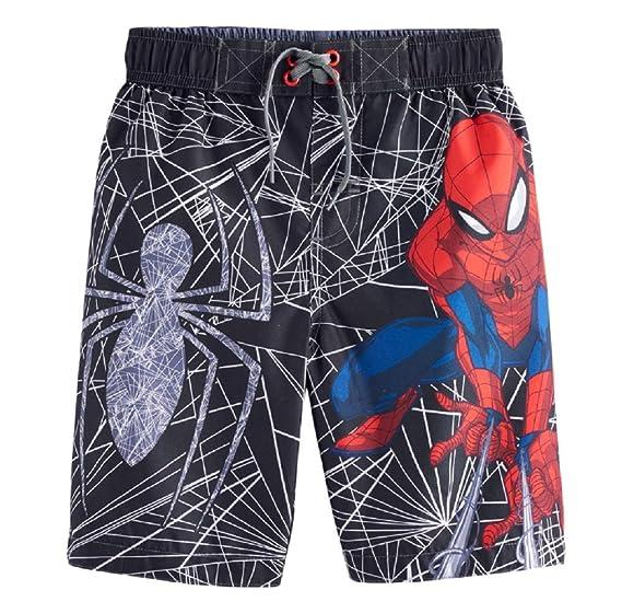 2d99bd0531f85 Amazon.com: Spider-Man Boy's Marvel Swim Trunks (4), Black: Clothing