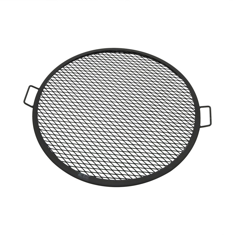 Sunnydaze X-Marks Fire Pit Cooking Grill Grate, Outdoor Round BBQ Campfire Grill, Camping Cookware, 30 Inch