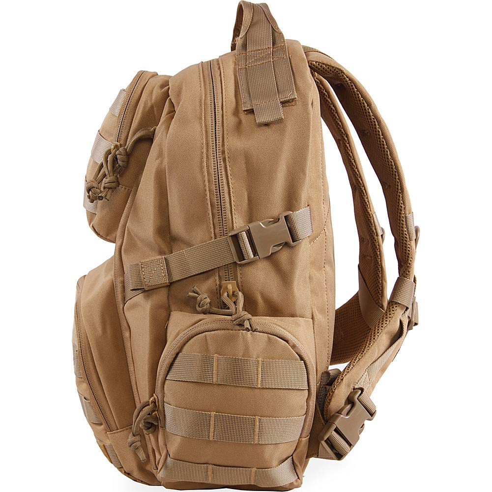 Amazon.com: Highland Tactical Roger Tactical Backpack with Laser Cut MOLLE Webbing (Black): Clothing