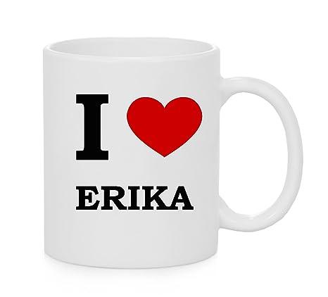 I taza del corazón Erika (Amor)