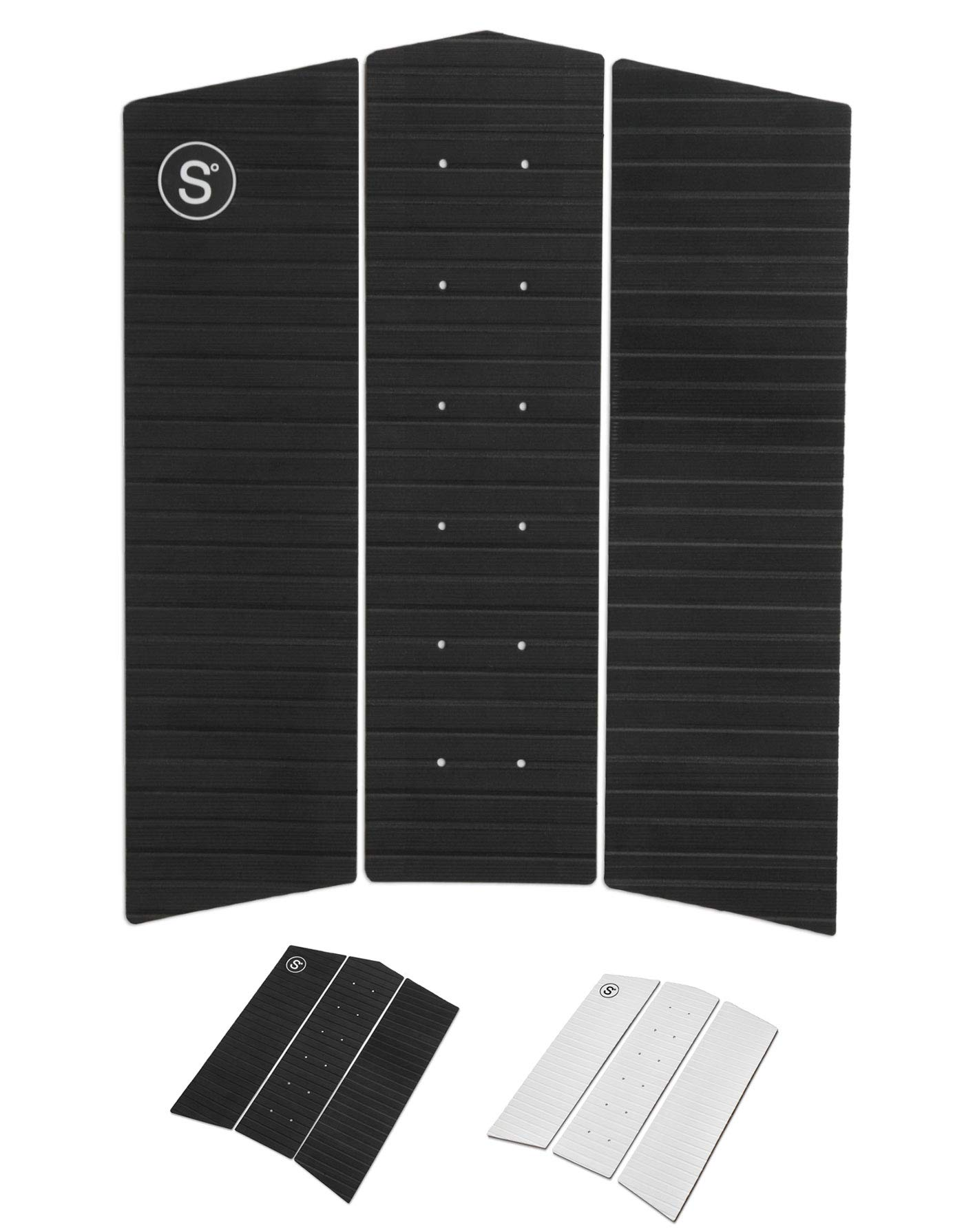 SYMPL Surfboard Front Traction Pad • 3 Pieces • Maximum Grip, 3M Adhesive for Surfboard, Skimboard, Longboard by SYMPL