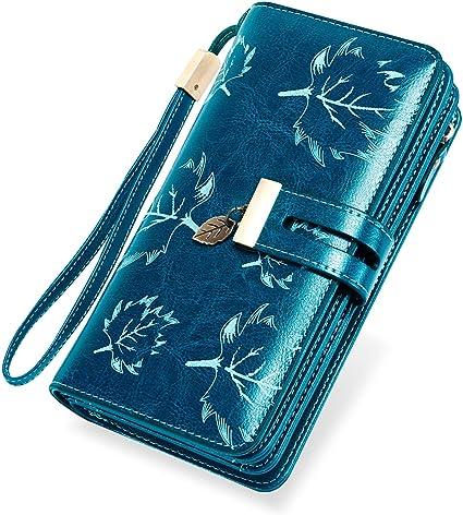 Kartenfach Damen Geldbörse Groß Portemonnaie Brieftasche für Frauen Münz Foto