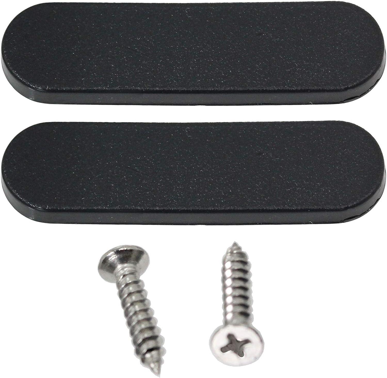 color negro Spares2go 2 unidades, 190 mm Manilla universal para puerta