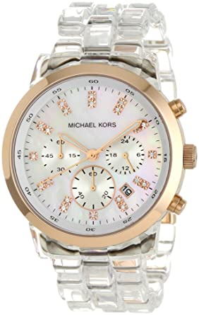 Michael Kors Womens MK5394 Showstopper Chronograph Clear Watch