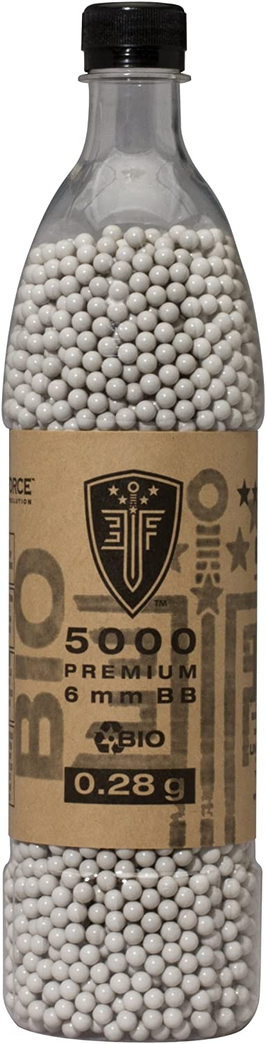 Elite Force Premium Biodegradable 6mm Airsoft BBS Ammo.28 Gram 5000 Count
