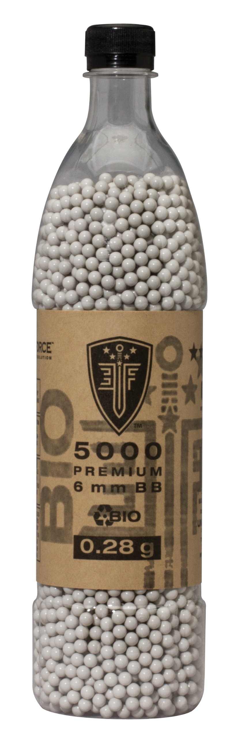 Elite Force Premium Biodegradable 6mm Airsoft BBS Ammo.25 Gram, 2700 Count