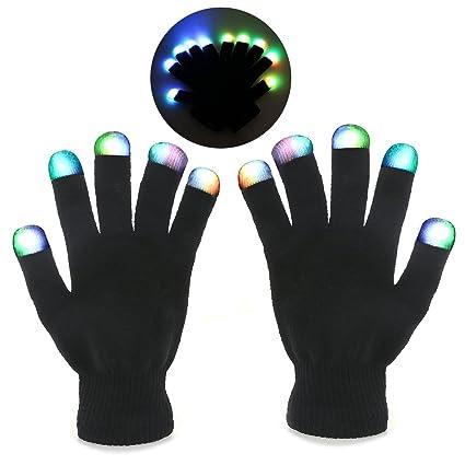 Foxnovo Novelty 7-mode LED Gloves Rave Light Finger Lighting Flashing Glowing Unisex Gloves -  sc 1 st  Amazon.com & Amazon.com: Foxnovo Novelty 7-mode LED Gloves Rave Light Finger ...