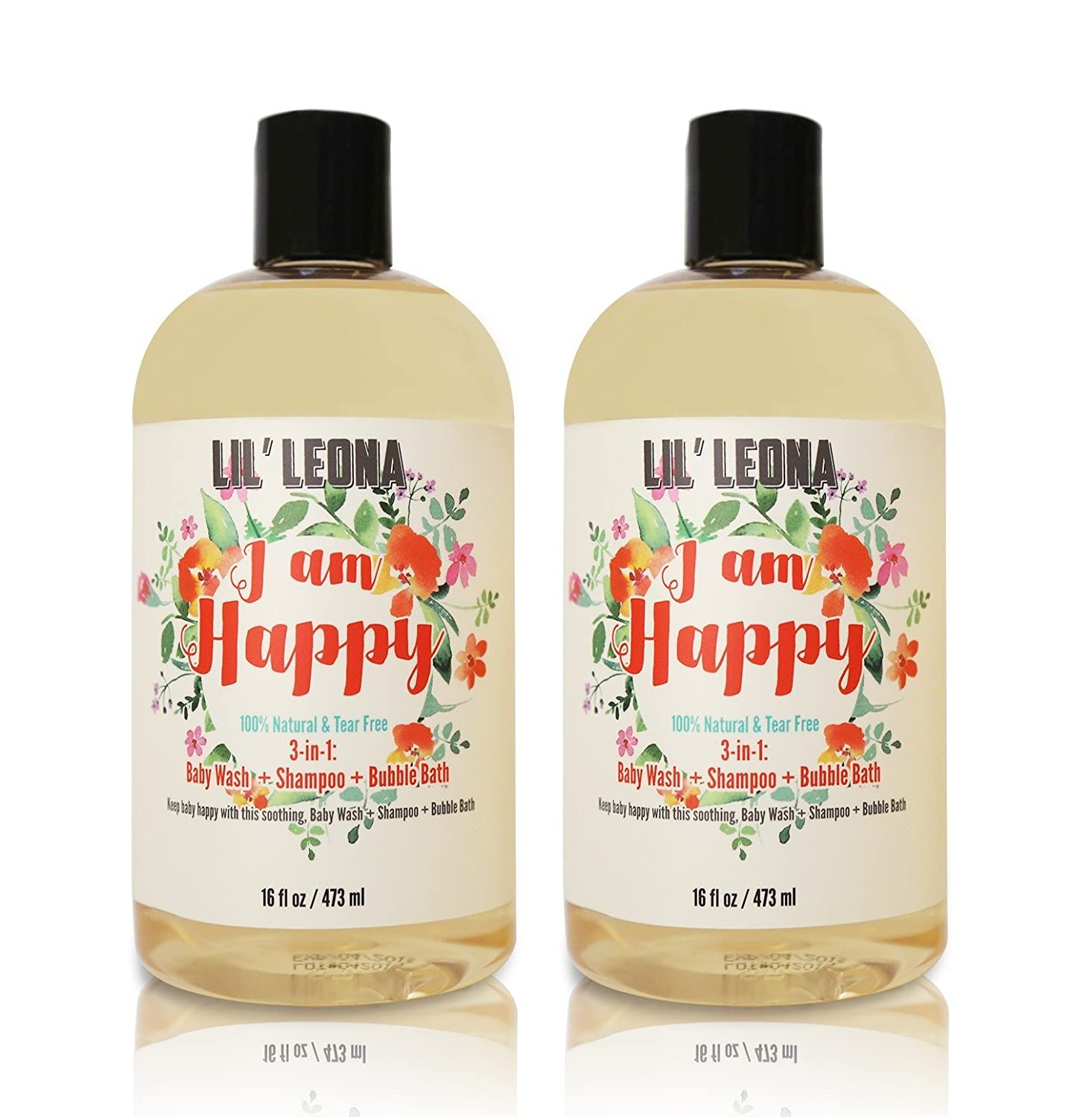Amazon 3 in 1 baby shampoo bubble bath and body wash 16 oz amazon 3 in 1 baby shampoo bubble bath and body wash 16 oz 2 pack by lil leona baby gamestrikefo Image collections