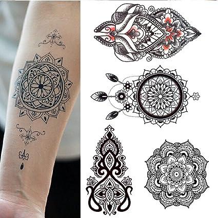 Tatuajes temporales adultos hombre mujer - 5 tatuajes grandes - 21 ...