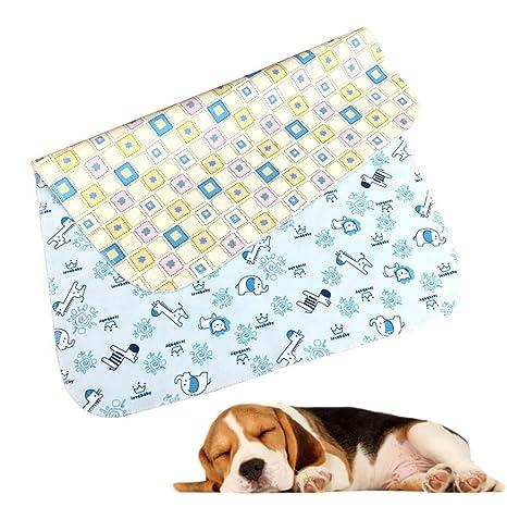 Aolvo - Almohadillas para perros, pulgadas, reutilizables, de terciopelo de cristal, capa