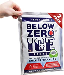 Below Zero Colder Than Ice Packs - Add Water & Freeze - 2 Pack 10x14in Longest Lasting Ice Pack for Lunch Bags, Fits Large and Small Insulated Coolers - No Ice Needed - Lasts Up to 48 Hrs…