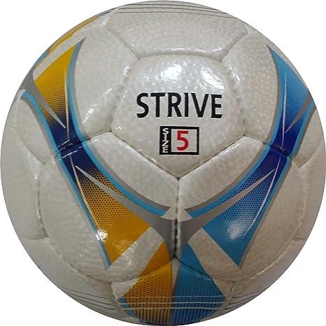 Strive cosida a mano balón de fútbol (amarillo, azul, y patrón de ...