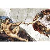 Michelangelo (Creation of Adam) Art Poster Print 36 x 24in