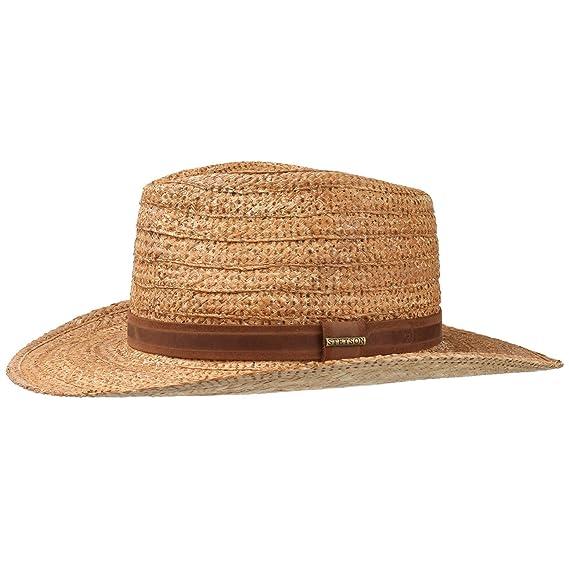 92769cc0dee Stetson Livermore Western Raffia Hat Summer Sun (M (56-57 cm ...