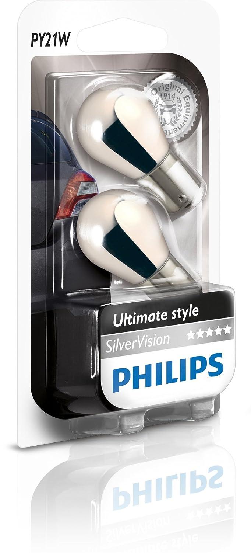 Philips 12496SVB2 Kugellampe PY21W SilverVision