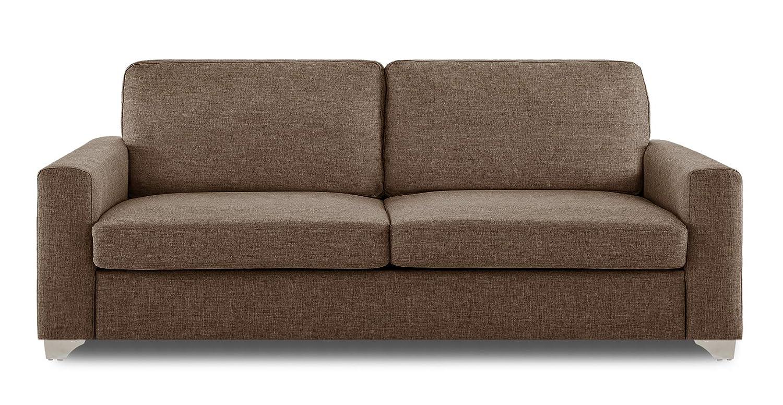 Adorn India Straight line 3 Seater sofa(Camel)