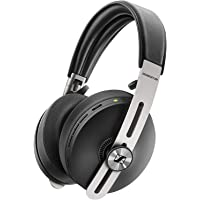Sennheiser MOMENTUM Over Ear Noise Cancelling Wireless Headphones, Stainless Steel, Black