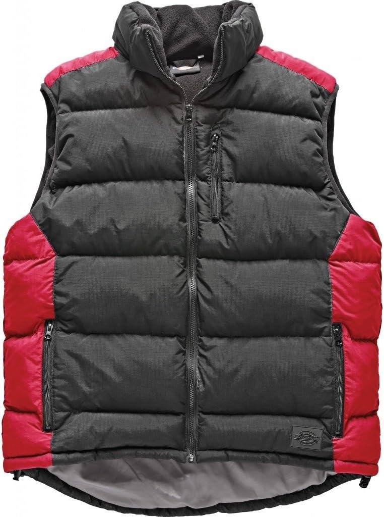 Dickies Crayford Gilet Bodywarmer BW7004 Mens Black Two Tone Zip Up Padded Vest