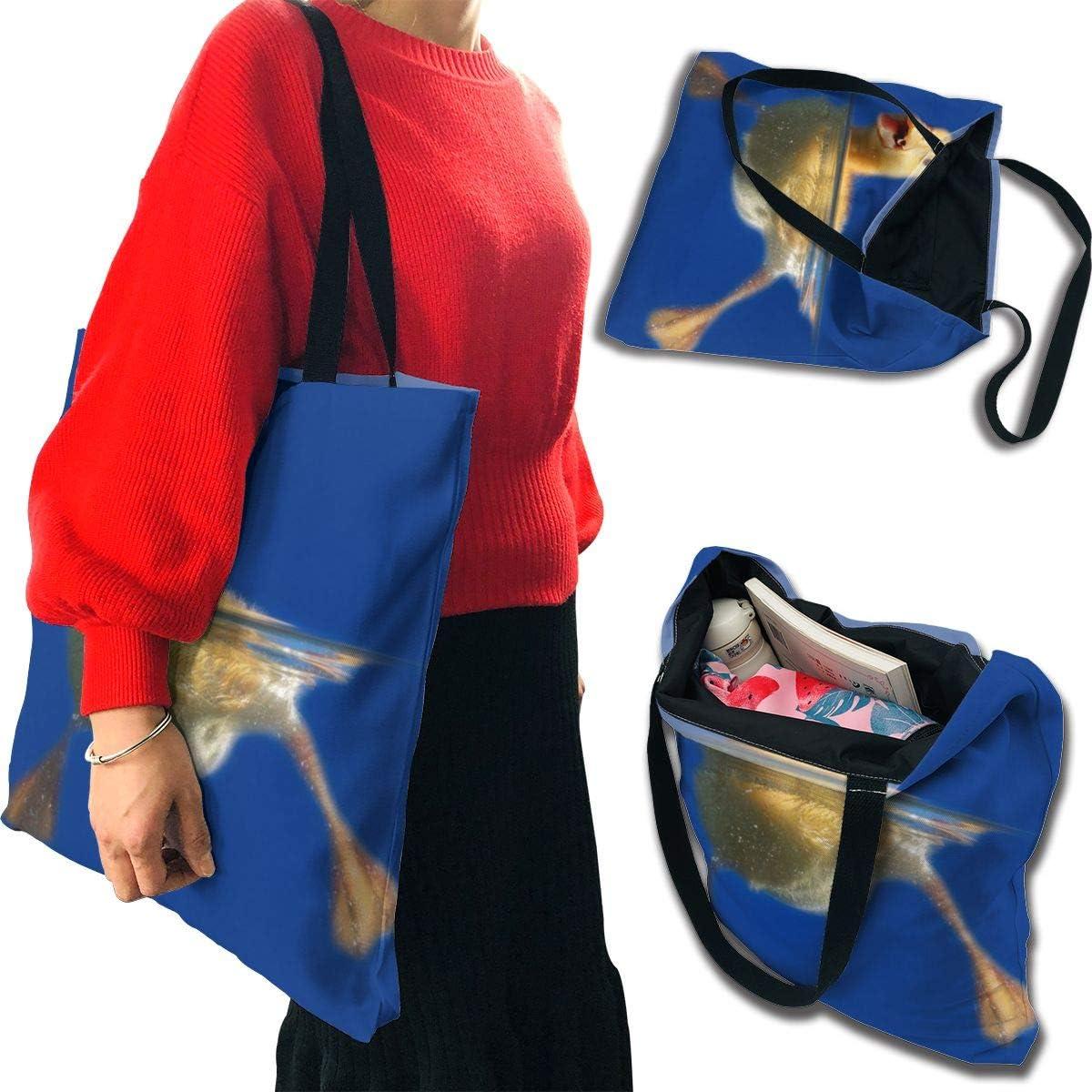 PengMin Duck On Water Fashion Womens Multi-Pocket Vintage Canvas Handbags Miniature Shoulder Bags Totes Purses Shopping Bags