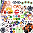 Total 140pc/set Halloween Toys Assortment for Halloween Party Favors, School Classroom Rewards, Trick or Treating, Halloween Miniatures, Halloween Prizes