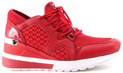 2a608325b15e Michael Kors Women s Shoes Sneakers Scout Trainer Mesh 43T7SCFS8D Bright  Red New