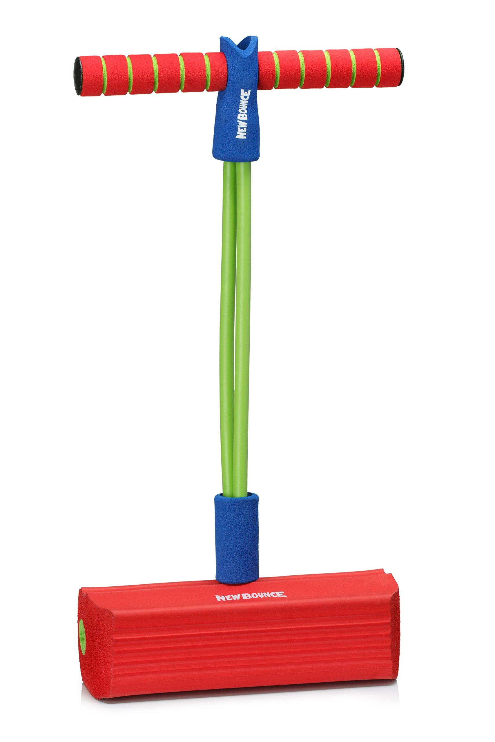 New Bounce Foam Pogo Stick Jumper for Kids 100% Safe, Bouncy Toy for Toddlers|Fun Foam Hopper for Children|Squeaks with Each Hop|Great Gift for Girls and Boys (Red)