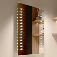 500 x 700 mm Modern Slim Illuminated Battery LED Bathroom Mirror MC146