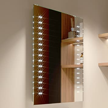 500 X 700 Mm Modern Slim Illuminated Battery LED Bathroom Mirror MC146
