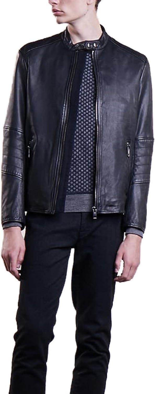 brandMe Mens Genuine Leather Pure Lambskin Biker Jacket MM312