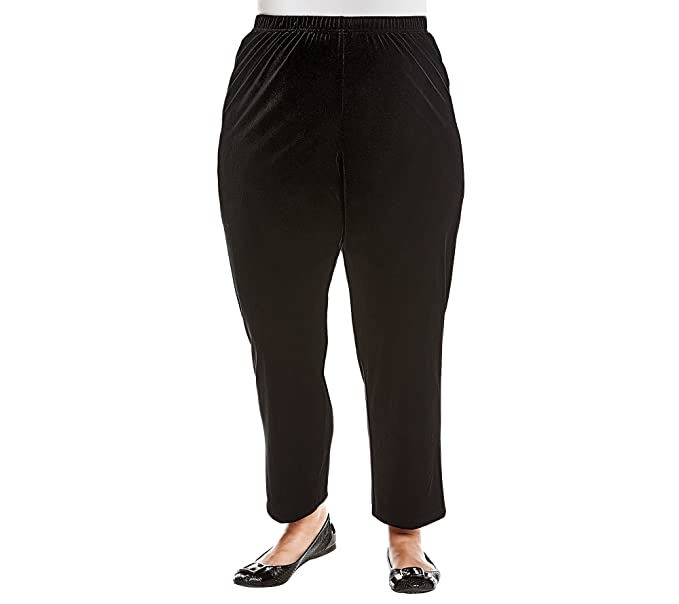 e9aa7033b719b Alfred Dunner Plus Size Velvet Knit Pants at Amazon Women s Clothing store