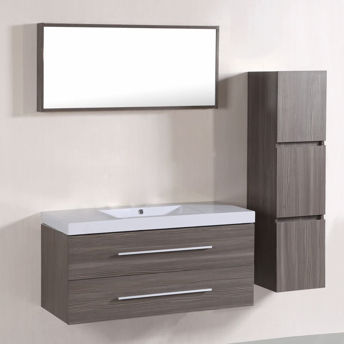 Amazon Com Bhbl 40 In Wall Mount Bathroom Vanity Set With Single Sink And Mirror C T5167a Kitchen Dining