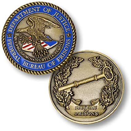 Department of Justice, Federal Bureau of Prisons Challenge Coin