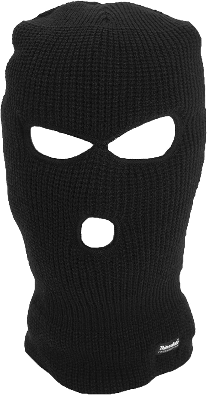 MEN/'S SAS BALACLAVA WINTER SKI THINSULATE  WARM HAT BLACK ONE HOLE