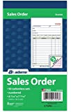 """Adams Sales Order Book, 3-Part, Carbonless, 4-3/16"""" X 7-3/16"""" Inch, 50 Sets, White, Canary and Pink, Pack of 3"""