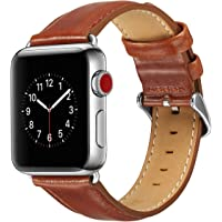 Lohpe Bracelet pour Apple Watch 42mm, Bracelet en Cuir PU avec Boucle en Acier Inoxydable Bracelet en Cuir pour Apple Watch Série 42mm 1/2/3 (E)