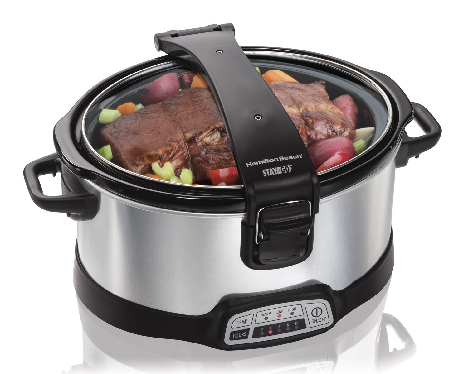 Hamilton Beach 33467 Programmable Stay or Go Slow Cooker, 6-Quart