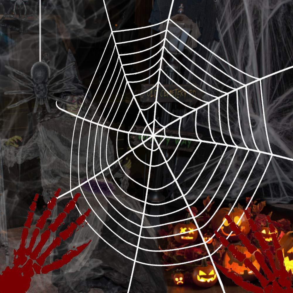 3,6M, Bianco CODIRATO Ragnatela per Halloween Ragnatela Finta per Decorazioni Halloween Feste