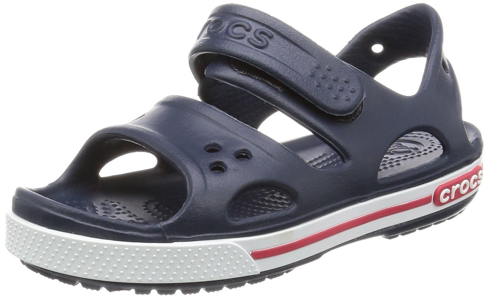 crocs Kids' Crocband II Sandal ,  Navy/White, 6 M US Toddler