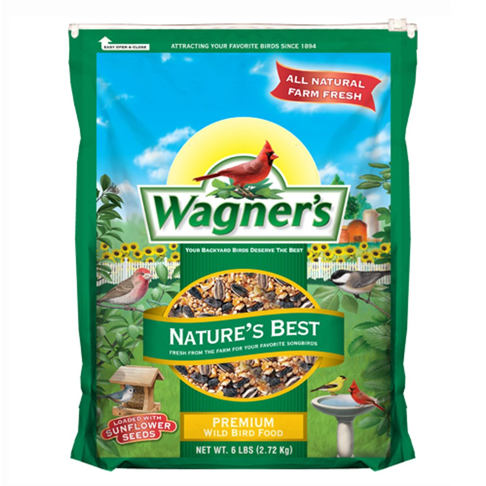 Wagner's 62069 Nature's Best Blend Wild Bird Food, 6-Pound Bag