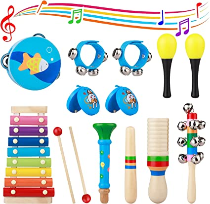 Plastic Rattle Musical Percussion Instrument Toy for Kids Educational Toy JO